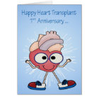 1st Anniversary Of Heart Transplant greeting cards