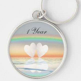 1st Anniversary Paper Hearts Keychain