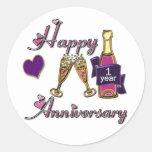 1st. Anniversary Round Sticker