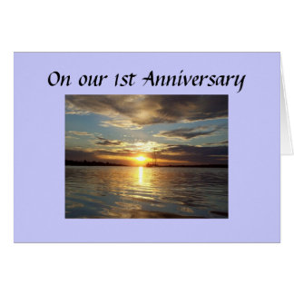 1st ANNIVERSARY SUN WILL RISE BRIGHTER Greeting Card