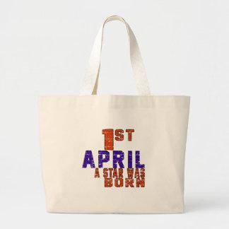 1st April a star was born Canvas Bag