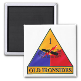 1st Armored Division Fridge Magnet