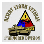 1st Armoured Division [1st AD] Poster
