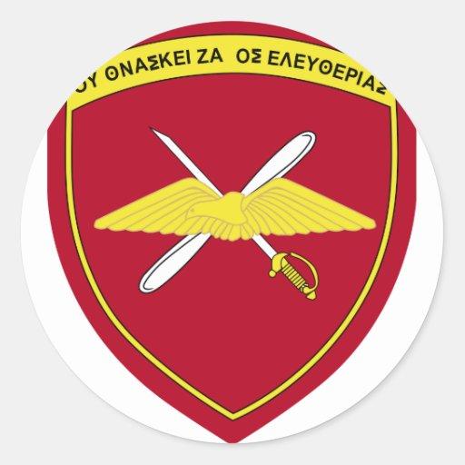1st Army Aviation Brigade Emblem Greece Round Stickers