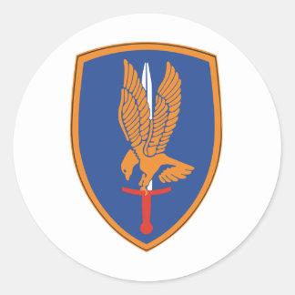 1st Aviation Brigade Classic Round Sticker