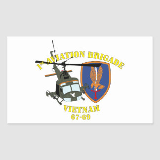 1st Aviation Brigade - Custom Rectangular Sticker
