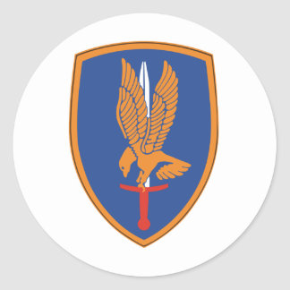 1st Aviation Brigade Round Sticker