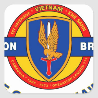 "1ST AVIATION BRIGADE VIETNAM ""GOLDEN HAWKS"" SQUARE STICKER"