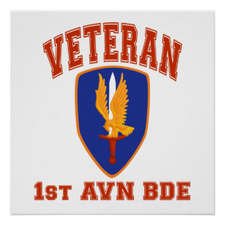 1st Avn Bde College Style Class A Patch Posters