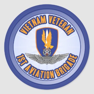 1st Avn Bde Master Aviator Round Stickers