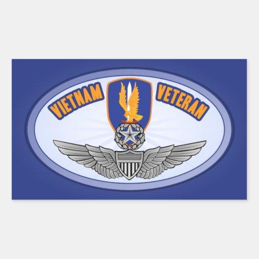 1st Avn Bde Master Aviator Rectangular Stickers