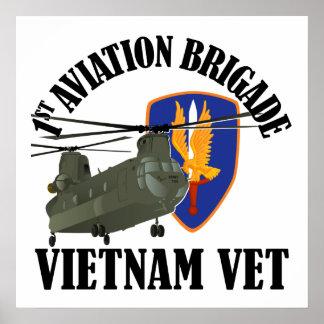 1st AVN BDE Vietnam CH-47 Poster
