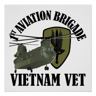 1st AVN BDE Vietnam CH-47 (Subdued) Poster