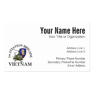 1st Avn Bde Vietnam Vet Huey Business Card Template