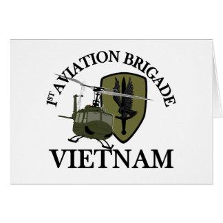 1st AVN BDE Vietnam Vet Huey Cards