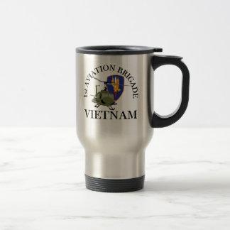1st Avn Bde Vietnam Vet Huey Coffee Mugs