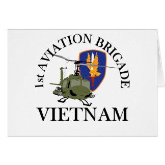 1st Avn Bde Vietnam Vet Huey Greeting Cards