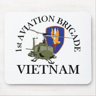 1st Avn Bde Vietnam Vet Huey Mouse Mats