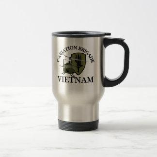 1st AVN BDE Vietnam Vet Huey 15 Oz Stainless Steel Travel Mug