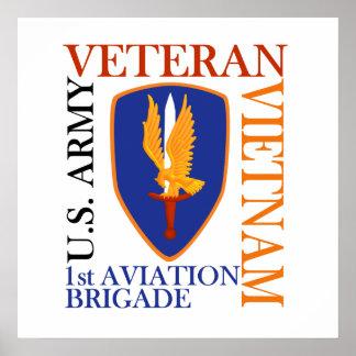 1st AVN BDE - Vietnam Veteran Print