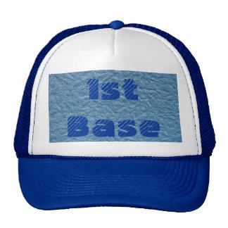 1st base cap trucker hat