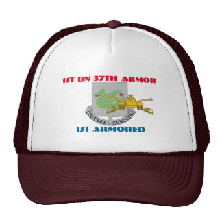1ST BATTALION 37TH ARMOR 1ST ARMORED HAT