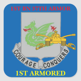 1ST BATTALION 37TH ARMOR 1ST ARMORED STICKERS