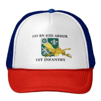 1ST BATTALION 63D ARMOR 1ST INFANTRY HAT