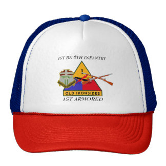 1ST BATTALION 6TH INFANTRY 1ST ARMORED HAT
