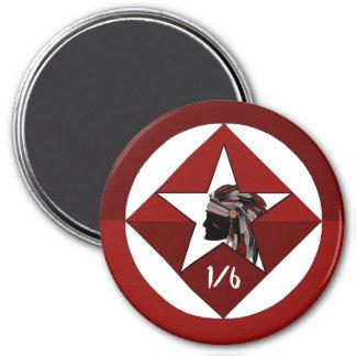 1st Battalion 6th Marine Regiment 7.5 Cm Round Magnet