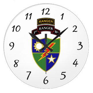 1st Battalion - 75th Ranger w/Tab - Wall Clock