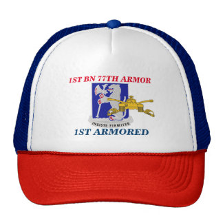 1ST BATTALION 77TH ARMOR 1ST ARMORED HAT