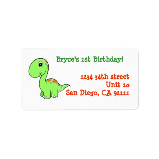 1st Birthday Address labels