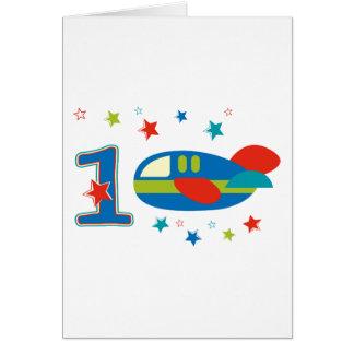 1st Birthday Airplane Greeting Card