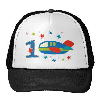 1st Birthday Airplane Mesh Hat
