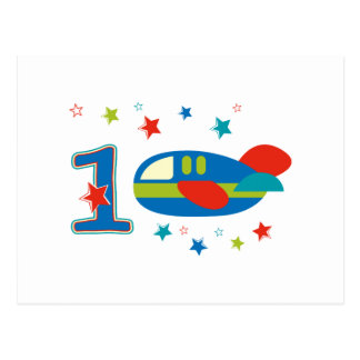 1st Birthday Airplane Postcard