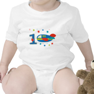 1st Birthday Airplane Rompers