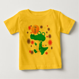 1st Birthday Alligator Baby T-Shirt
