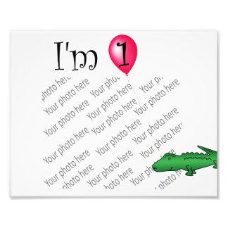 1st Birthday alligator red balloon Photograph