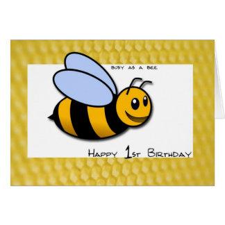 1st Birthday Bee Card