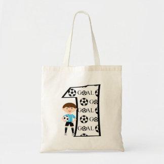 1st Birthday Blue and White Soccer Goal Bag