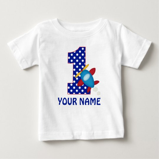 1st Birthday Boy Aeroplane Personalised Shirt