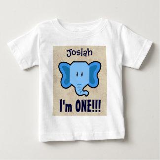 1st Birthday Boy CHEVRON One Year Custom Name V14 Baby T-Shirt