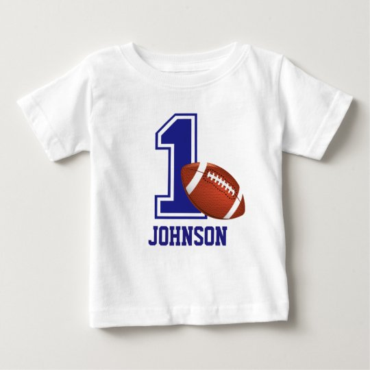 1st Birthday Boy football Personalised Baby T-Shirt