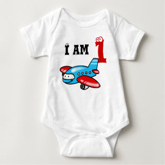 1st birthday boy gift ( airplane ) baby bodysuit