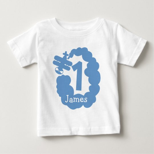 1st Birthday boy | Personalised aeroplane t shirt