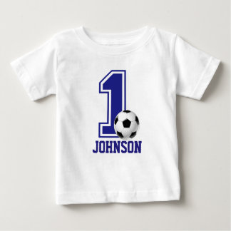 1st Birthday Boy soccer,football Personalized Baby T-Shirt