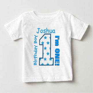 1st Birthday Boy Stars One Year Custom Name V006 Baby T-Shirt