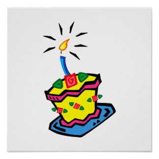 1st Birthday Cake Poster