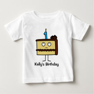 1st Birthday Cake with Candles Baby T-Shirt